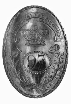 Officers Crossbelt Plate - 97th (Inverness-shire) Highlanders  c1794-1795