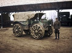 Olasz gyártmányú M30 Pavesi vontató A magyar hadsereg szolgálatában 1939.My colored picture.