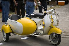 It is a dream of mine to own a Vespa with a sidecar.