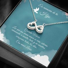 Remember Son Spanish | Hijo En El Cielo | Spanish Angel Wing | Spanish Loss Quotes | Collar De Memoria | Missing Hijo Gift #sonrememberanceSpanish #Spanishmemorialphrase #hijolossgift Infinity Heart, Infinity Symbol, Sister In Law Gifts, Gifts For Dad, Funeral Gifts, Love Lily, Sympathy Gifts, Memorial Gifts, Message Card
