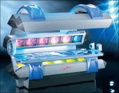 The ULTIMATE 360' high pressure tanning bed. Tans to the second layer of skin for darker, longer-lasting color!