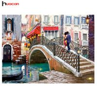 Trademark Fine Art Framed H x W Cityscape Print on Canvas at Lowe's. This ready to hang, gallery-wrapped art piece features a couple standing on a bridge over an Italian canal. Giclee (jee-clay) is an advanced printmaking Artist Canvas, Canvas Art, Canvas Prints, Art Prints, Venice Bridge, Cross Paintings, Framed Art, Scenery, Fine Art