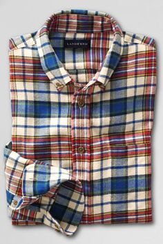 Men's plaid flannel from Lands' End. Does it get better? $37