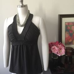 """Body Glove Halter Black Size Large NWT Body Glove """"Victoria"""" Halter.  Size: Large.  Color: Black.  Beautiful soft stretch fabric 95% Viscose, 5% Spandex.  Made in India.  Never worn, perfect condition.  Also available in Winter White.  See other listing. Body Glove Tops"""