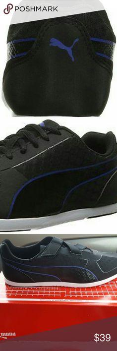 Puma Womens Modern Soleil Ac Gem New Puma size 10 Black with a purple Line Puma Shoes Sneakers