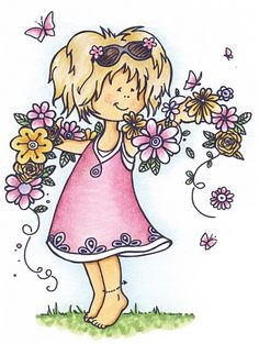 Hm9456 Clear stamp Snoesje - With flower - Snoesjes stempels - Clear stamps - Hobbynu.nl