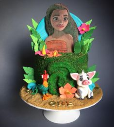 Moana Birthday cake made with Satin Ice Fondant Moana Birthday, Birthday Fun, Birthday Party Themes, Birthday Cake, Satin Ice Fondant, Gum Paste, How To Make Cake, Cake Ideas, Cake Decorating
