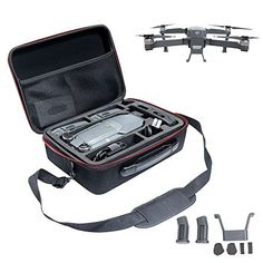 "Awaytoy DJI mavic pro Drone Handbag Carrying Case Hardshell with 2 Landing Gears EVA + 1680D:   Material: pc +abs; internal: eva + 1680d with all eva foam in the case to protect your drone.  Size:11.  4 * 8.  3 * 4.  3"",even maller than a a4 paper.  Reasonable use of space, and easy to carry!  Although small,can hold whole set of drone.  Portable and durable, easy to carry, lightweight.  Can put into your luggage and big backpack,carry it anywhere with you.  Can hold it as shoulder bag..."