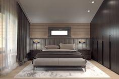 Akhunov Architects, Спальня в деревянном доме из бруса / Bedroom in a wooden house made of lumber #Honka / Дизайн интерьера вПерми и не только
