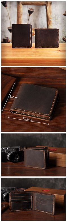 Handmade Men's Long Leather Wallet Money Purse Card Holder MT03 Overview: Design: Vintage Leather Men Long Wallet In Stock: Ready to Ship (2-4 days) Include: Only Wallet Custom: No Color: Dark Brown L - handbags, western, unique, handmade, money, over the shoulder purses *ad