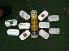 TIN BUTTERFLY---Mariposa de latas---PAPILLON DE BOÎTES DE CONSERVE.