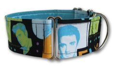 Hound Dog Elvis collar by Dogma London, available at Artsydog.
