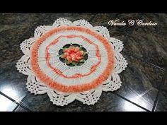 tapete do jogo de banheiro em crochê Princesa - YouTube