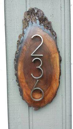 Diy house number plaque.  I'm pleased at the result #rusticmodern, #rusticchic, #rusticglam