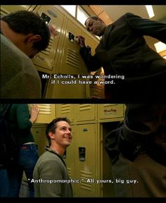 Veronica Mars: Logan's sarcastic mouth. I miss him!