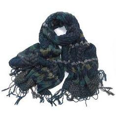 ladies scarf Blue Erin Textured design scarves shawls wrap neck soft fashion