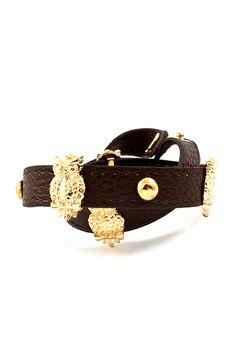 Owlette Charm Bracelet in Chocolate