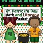 St. Patrick\'s Day Math and Literacy Worksheets  Math and Literacy Printables Activities Worksheets pages of fun. Aligned to the Common Core  This p...