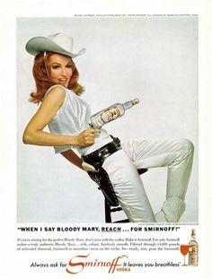 Julie Newmar (Catwoman) - Smirnoff vodka