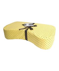 Look what I found on #zulily! Yellow Pin Dot Nursing Pillow #zulilyfinds