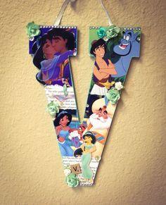 Letter V Any Theme  Disney wooden letter  11 by SpikaInteriors