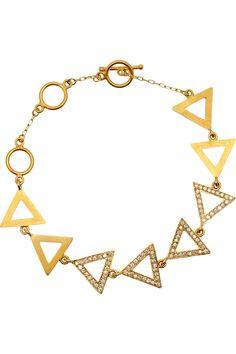 HALLEH  18-karat gold and diamond triangle bracelet  $8,580
