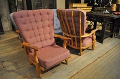 1950 Pair of Guillerme and Chambron Chairs Blonde 4