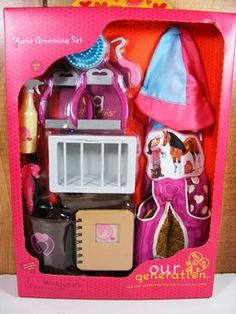 "Our Generation Horse Grooming Barn Farm Set 18"" Doll Rider New AG | eBay"