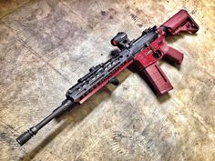 "LMT lower, B5 Enhanced SOPMOD Stock, VLTOR MUR-1A Upper, BCM Light Weight 16"" Barrel, KAC URX LW Rail, Aimpoint H-1 optic, KAC T-1 Mount, Magpul MOE Grip, Magpul PMAG, KAC Triple Tap Brake, Phase 5 Tactical Bolt Release, Surefire X300 weapon-light w/ XR07 remote switch"