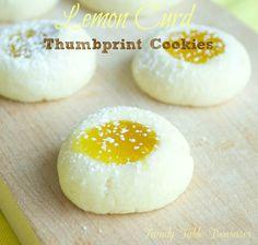Lemon Curd Thumbprint Cookies