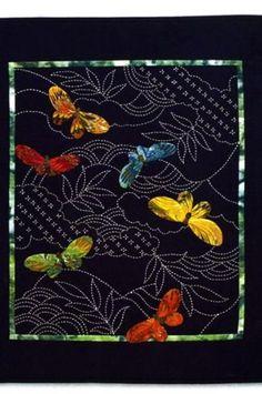 Butterflies & Sashiko, pattern $14.99