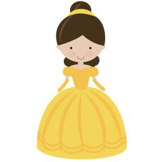 Fairytale Princess In Yellow - SVG Scrapbooking File