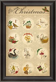 The 12 Days of Christmas - Framed Print.