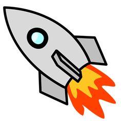 quilt {rocket ship fabric collage - Illustration of a blue rocket ...