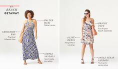 Love both dresses (especially if I can get a maxi in petite) and the ankle sandals are perfect!
