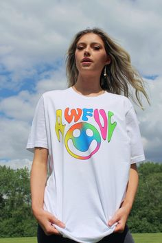 Awful Tie-Dye T-Shirt Tie Dye T Shirts, 30 And Single, Fitness, Cotton, How To Make, Collection, Tops, Women, Fashion