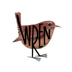 Steven Millington is a British illustrator who has developed some wonderful typographic illustrations of birds and animals.