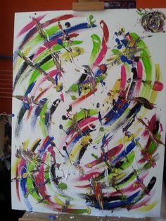 acrylverf schilderij bij Yainine design