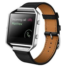 427bbfacce2 BESSKY New Luxury Wrist strap Genuine Leather Watchband For Fitbit Blaze Blue  Style