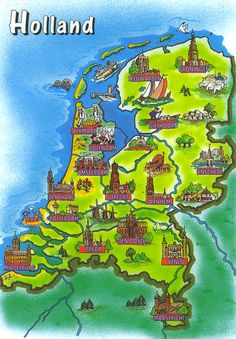 Holland attractions on the map