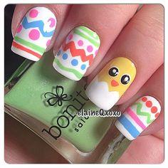 elaineqxoxo easter #nail #nails #nailart