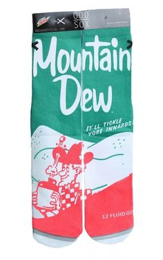 ODD SOX SOCKS COLLECTION MOUNTAIN DEW RETRO CLASSICS PATTERNS STAND OUT CROWD   | eBay