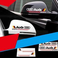 High quality car sticker vinyl rear mirror decal racing motor logo for AUDI #Unbranded