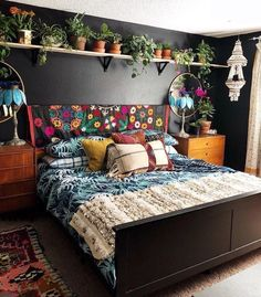 Bohemian Bedroom Decor And Bed Design Ideas… – decoracion – Home Decor Ideas Bohemian Bedroom Design, Bohemian House, Bedroom Inspo, Home Decor Bedroom, Bedroom Ideas, Bedroom Curtains, Modern Bohemian, Bohemian Bedrooms, Bedroom Designs