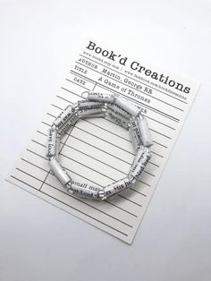 bookworm bracelet, bookworm jewelry, bookworm gifts, book bracelet, literary bracelet, GAME of THRONES, wire wrap bracelet, bibliophile Wire Wrapped Bracelet, Wrap Bracelets, Gifts For Bookworms, Just For You, Take That, Lovers And Friends, Used Books, How To Make Beads, Bibliophile