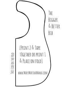 30 ideas baby diy boy bib tutorial for 2019 Baby Sewing Projects, Sewing Projects For Beginners, Sewing For Kids, Easy Projects, Sewing Ideas, Baby Bibs Patterns, Sewing Patterns Free, Free Pattern, Diy Baby Bibs Pattern