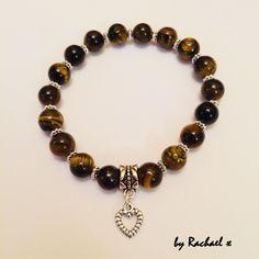 Tiger's Eye charm bracelet