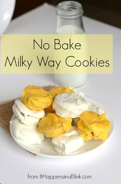 No Bake Milky Way Cookies from It Happens in a Blink