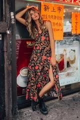Etienne Noir Strappy Maxi Dress • Spell & The Gypsy Collective