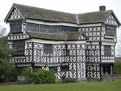 Little Moreton Hall, Congleton, Cheshire, England - The earliest parts of the house were built for the prosperous Cheshire landowner William Moreton in about 1504–08, and the remainder was constructed in stages by successive generations of the family until about 1610.